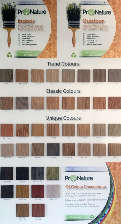 Timber Colour Chart